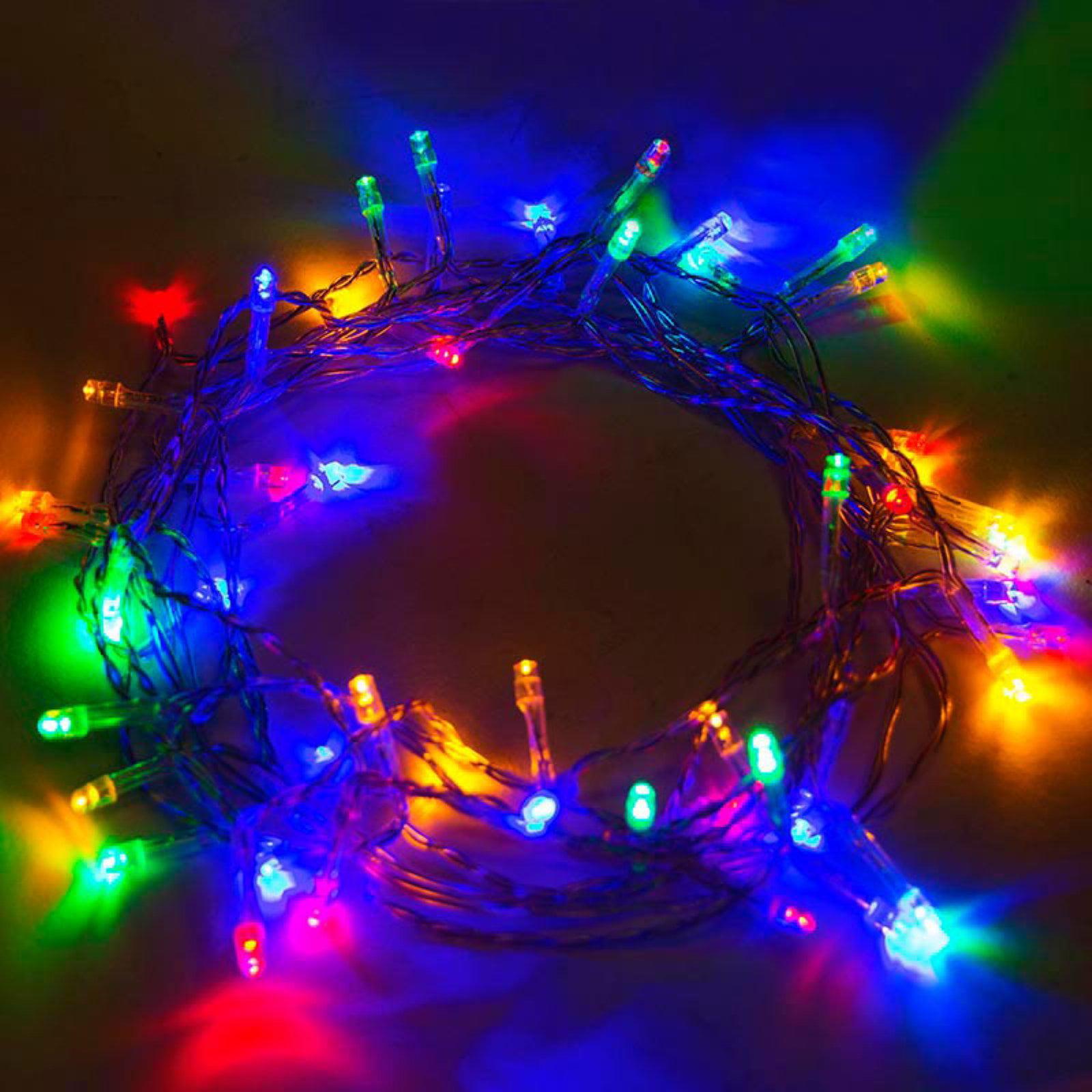aleko 60 led solar powered christmas string lights walmartcom