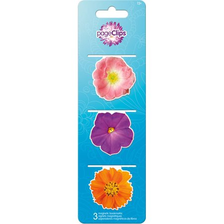 Magnetic Page Clips - Flowers - Stationery New bm4606 - Flowers Padded Stationery
