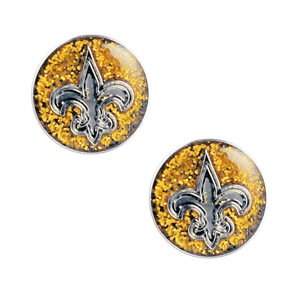 NFL New Orleans Sports Team Logo Glitter Sparkle Post Stud Logo Earring Set Charm Gift