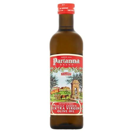 Partanna Asaro Sicily Grown Extra Virgin Olive Oil, 25.5 fl