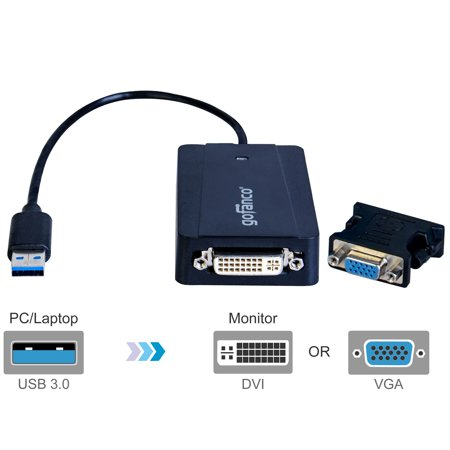 gofanco USB 3.0 to DVI/VGA Video Adapter w/ External Graphics Chipset