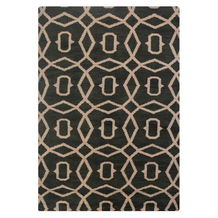 - Rugsotic Carpets Hand Knotted Wool 8'x10' Area Rug Geometric Green Beige N00533