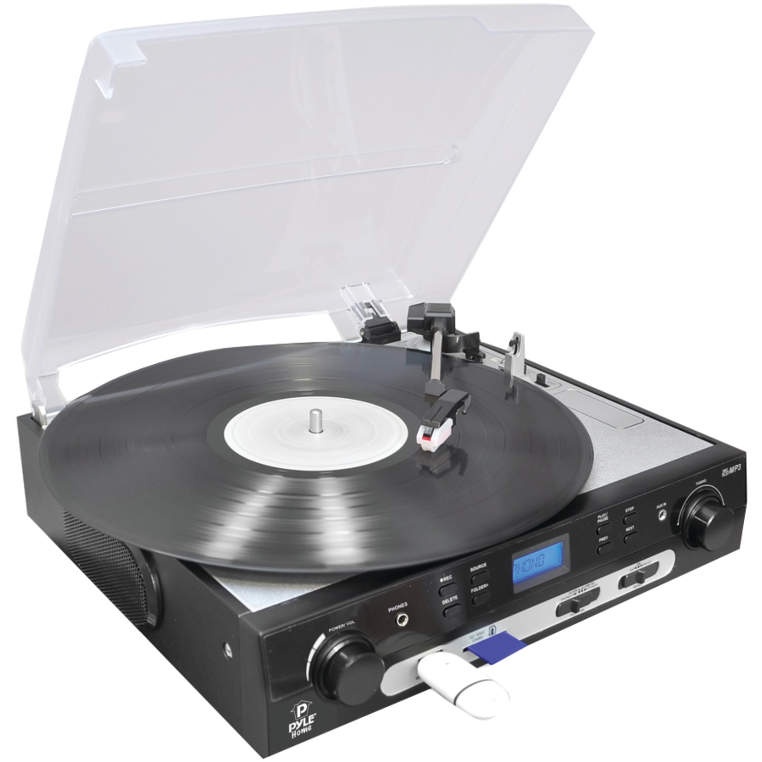 Pyle Home PLTTB9U Usb Turntable With Direct-to-digital Usb sd Card Encoder by Pyle