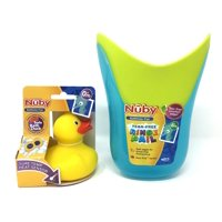 Shampoo Rinse Pail and Sure Temp Rubber Duck Bath Bundle