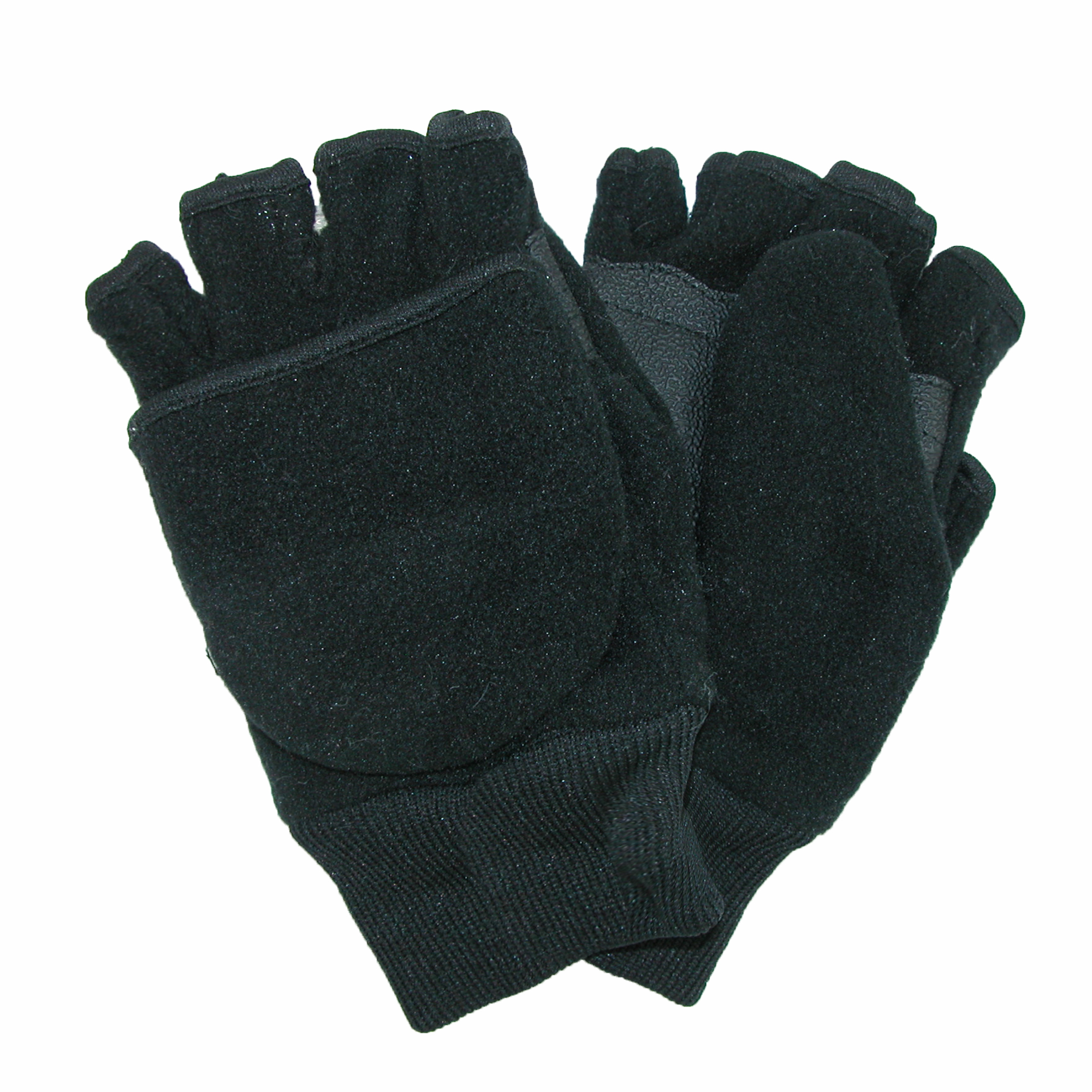 CTM®  Kids and Teens Fleece Convertible Fingerless Winter Mitten / Gloves