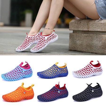 Unisex Waterproof Shoes Swimming Slippers Hollow Hole Summer Beach Sandals