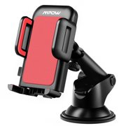 Mpow Car Phone Mount,Washable Strong Sticky Gel Pad with One-Touch Design Dashboard Car Phone Holder for iPhone 8/8Plus/7/7Plus/6s/6Plus/5S, Galaxy, Google Nexus, LG, Huawei and More (Black & Red)