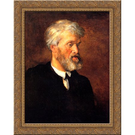 Portrait Of Thomas Carlyle 20X23 Gold Ornate Wood Framed Canvas Art By Watts  George Frederick