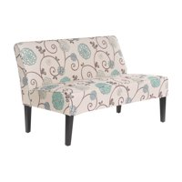 Dejon Floral Upholstered Armless Loveseat