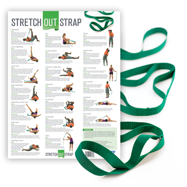 Stretch Out Strap™ with Stretching Exercise Poster