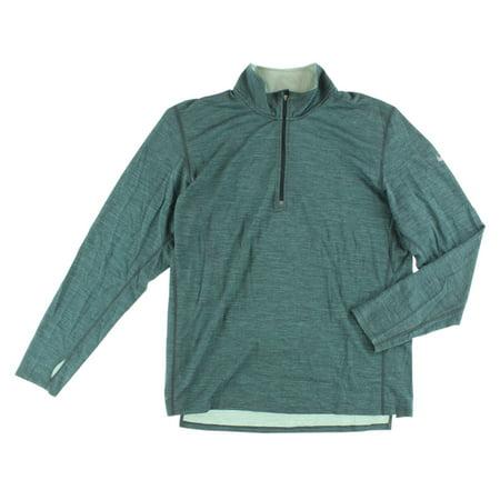 Nike Mens Dri Fit Wool Half Zip Running Shirt Muted Blue