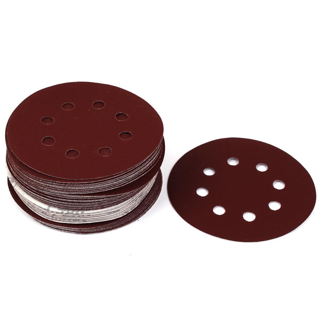 "5"" Dia 400 Grit 8 Holes Sanding Paper Disc Sandpaper 50pcs for Oscillating Tool - image 3 of 3"