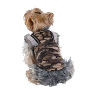 Brown Camo Skirt Dress For Puppy Dog Clothing Clothes - Large (Gift for Pet)