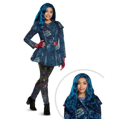 Disney's Descendants 2: Evie Deluxe Isle Look Child Costume and Disney Descendants 2: Evie Child Wig