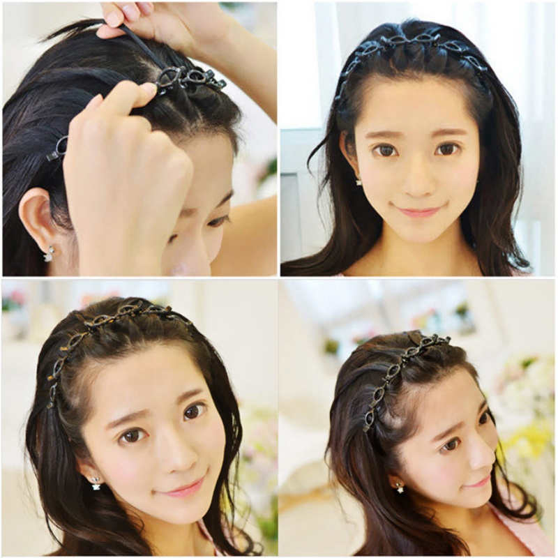 Double Bangs Hairstyle Hairpin Double Layer Headband Bangs Clips 50/%OFF
