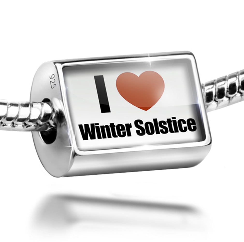 Bead I Love Winter Solstice Charm Fits All European Bracelets by NEONBLOND