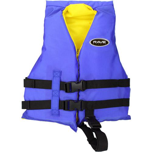 Rave Sport Universal Nylon PFD Child Life Jacket, Blue