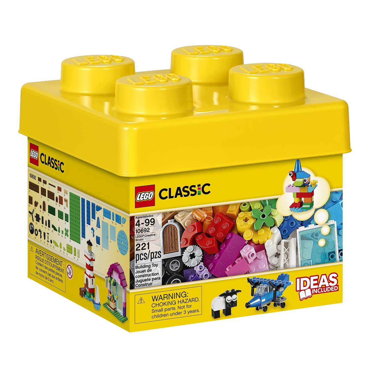 LEGO Classic Small Creative Bricks Kids 221 Piece Building Box Set | 10692