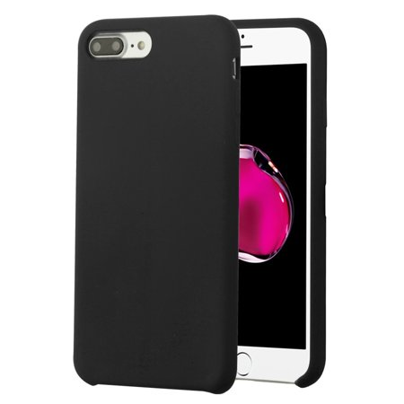 Apple iPhone 7 Plus/8 Plus Executive Protector Hard Plastic Silicone Rubber Cover Case by Insten - Black + Privacy Tempered Glass Screen Protector - image 1 of 3