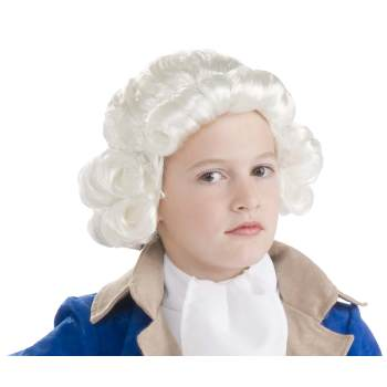 WIG-CHILD COLONIAL BOY-WHITE