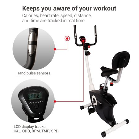 Loctek UF6M Indoor Cardio Magnetic Resistance Stationary Cycling Bike