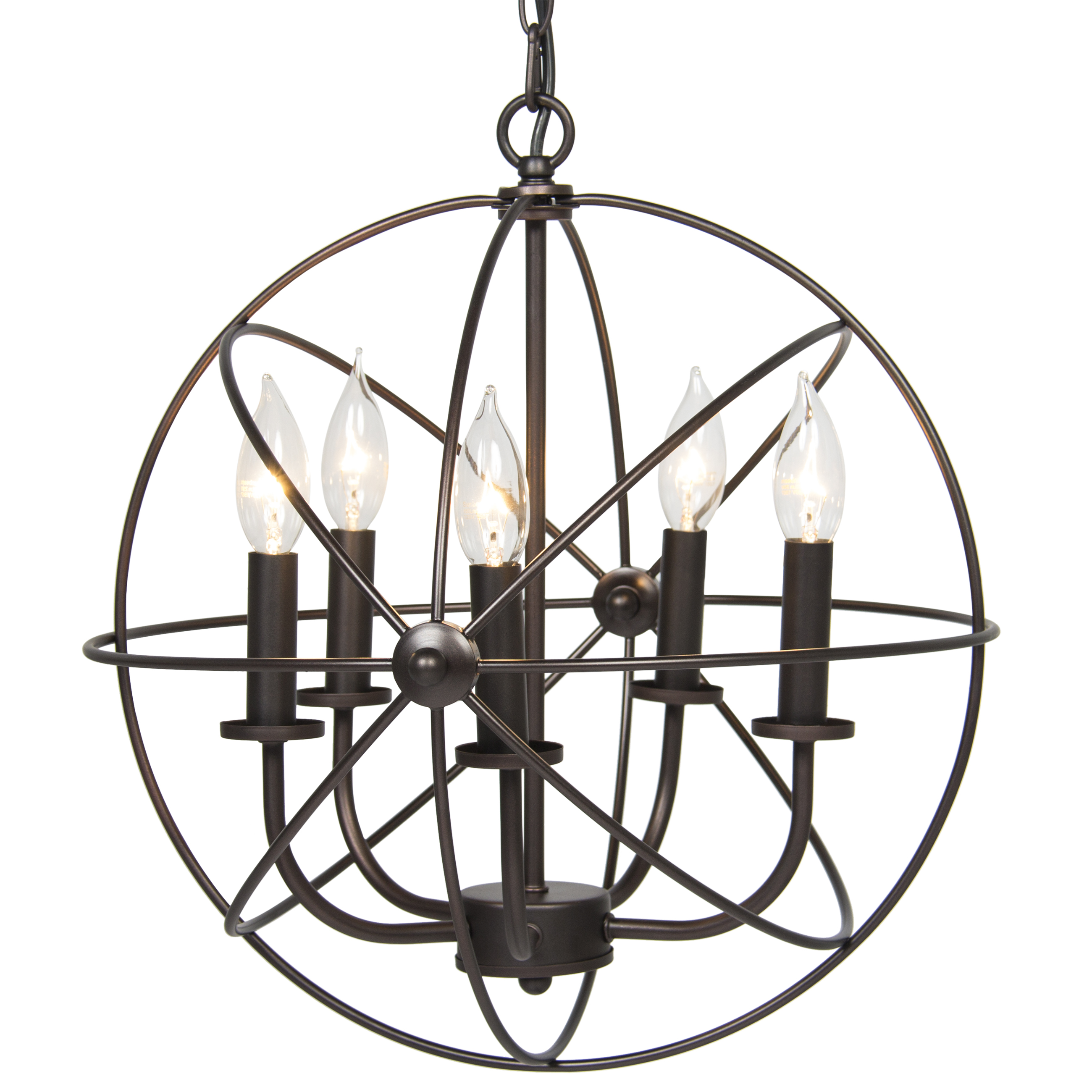 Best Choice Products Industrial Vintage Lighting Ceiling Chandelier 5 Lights Metal Hanging Fixture by SKY