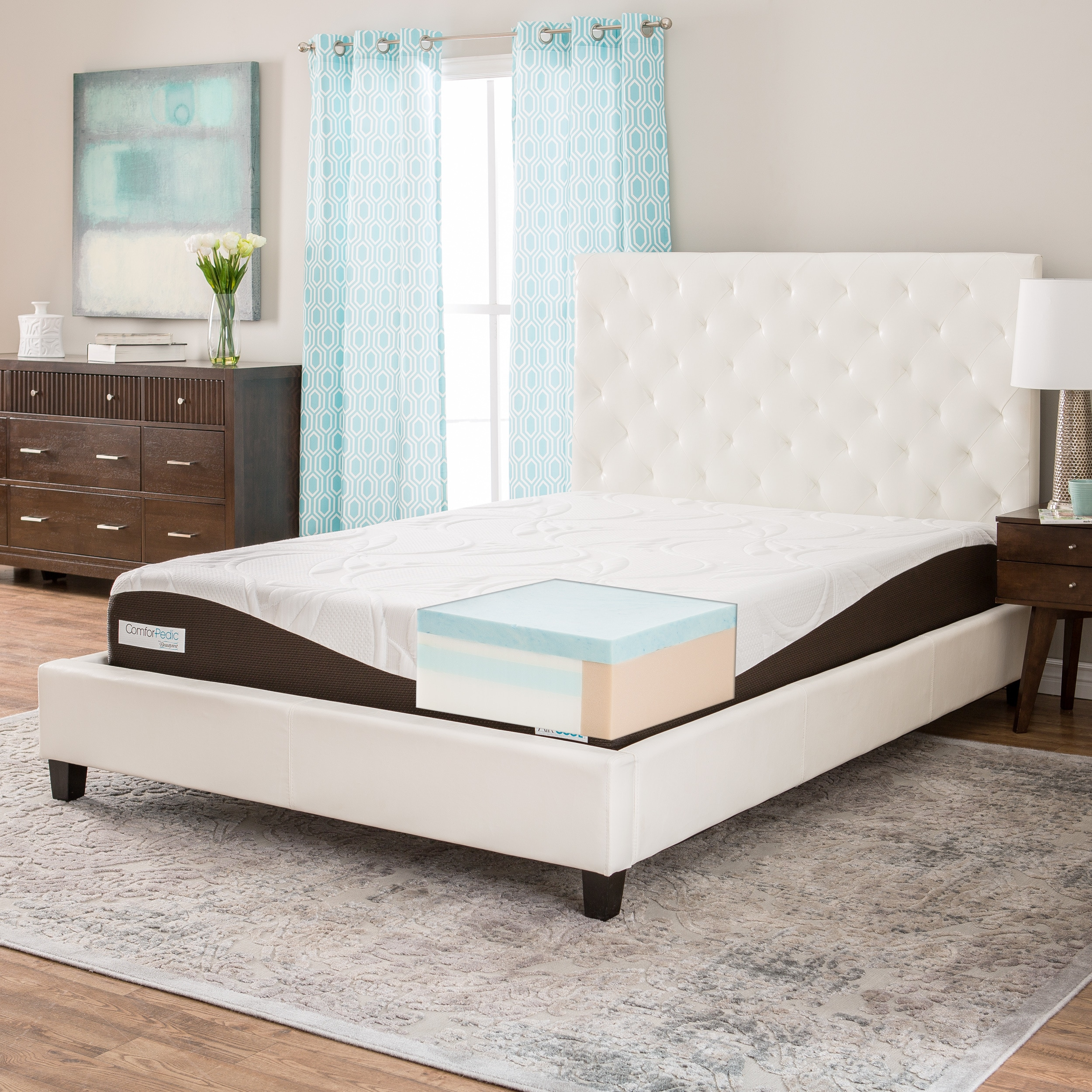 Simmons Beautyrest ComforPedic from Beautyrest 10-inch Queen-size Gel Memory Foam Mattress by Overstock