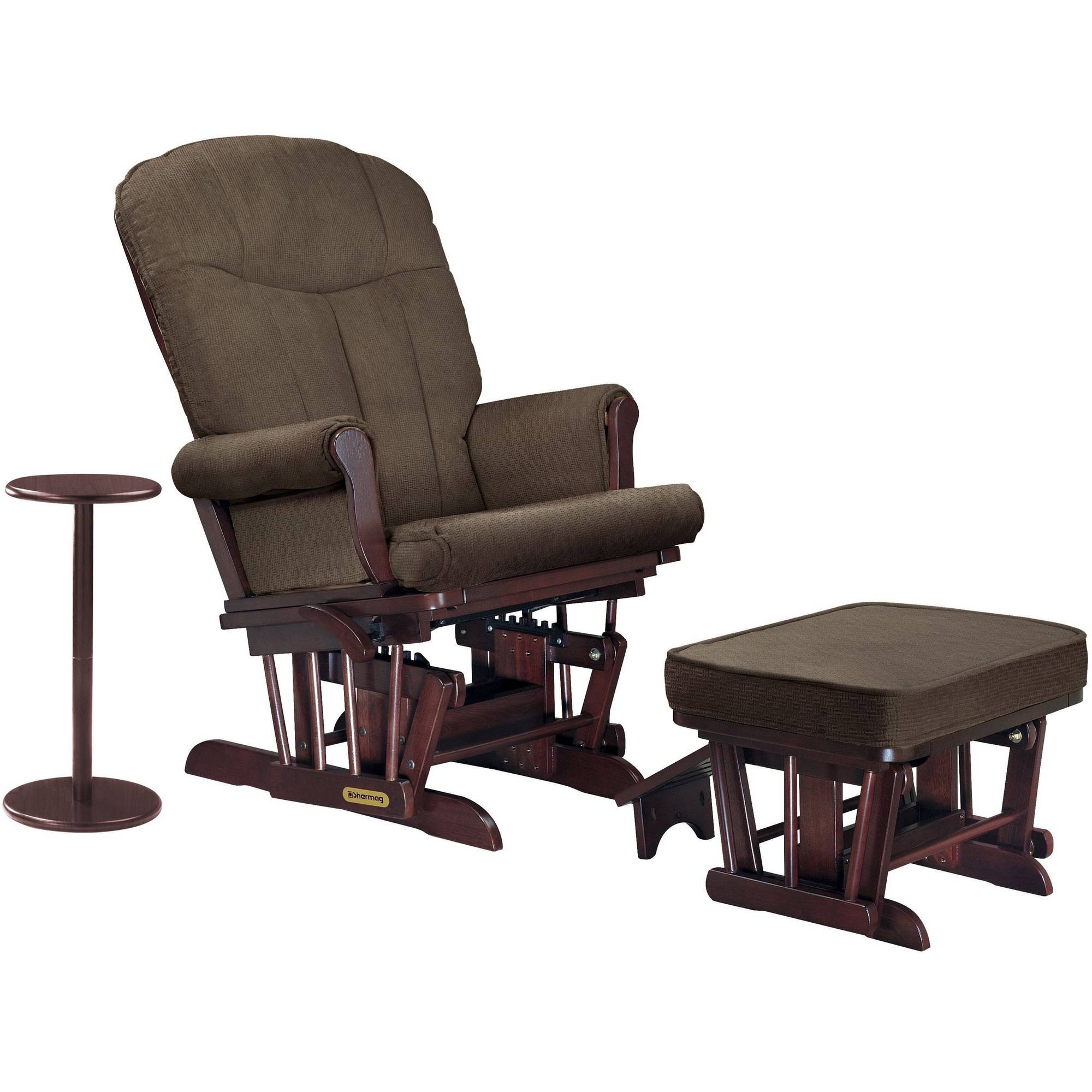 Shermag Combo Glider/Ottoman/Coffee Table, Cherry/Station Mocha