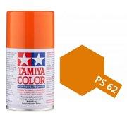 Tamiya America, Inc Polycarbonate PS-62 Pure Orange, Spray 100 ml, TAM86062