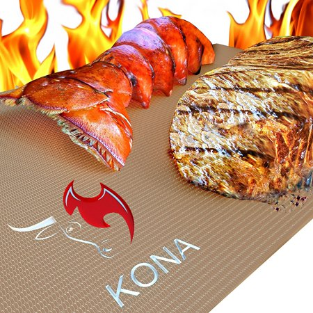Kona Gold Grill   Bake Mats   New   Nonstick Heavy Duty Grill Accessories Bbq Mats  Set Of 2