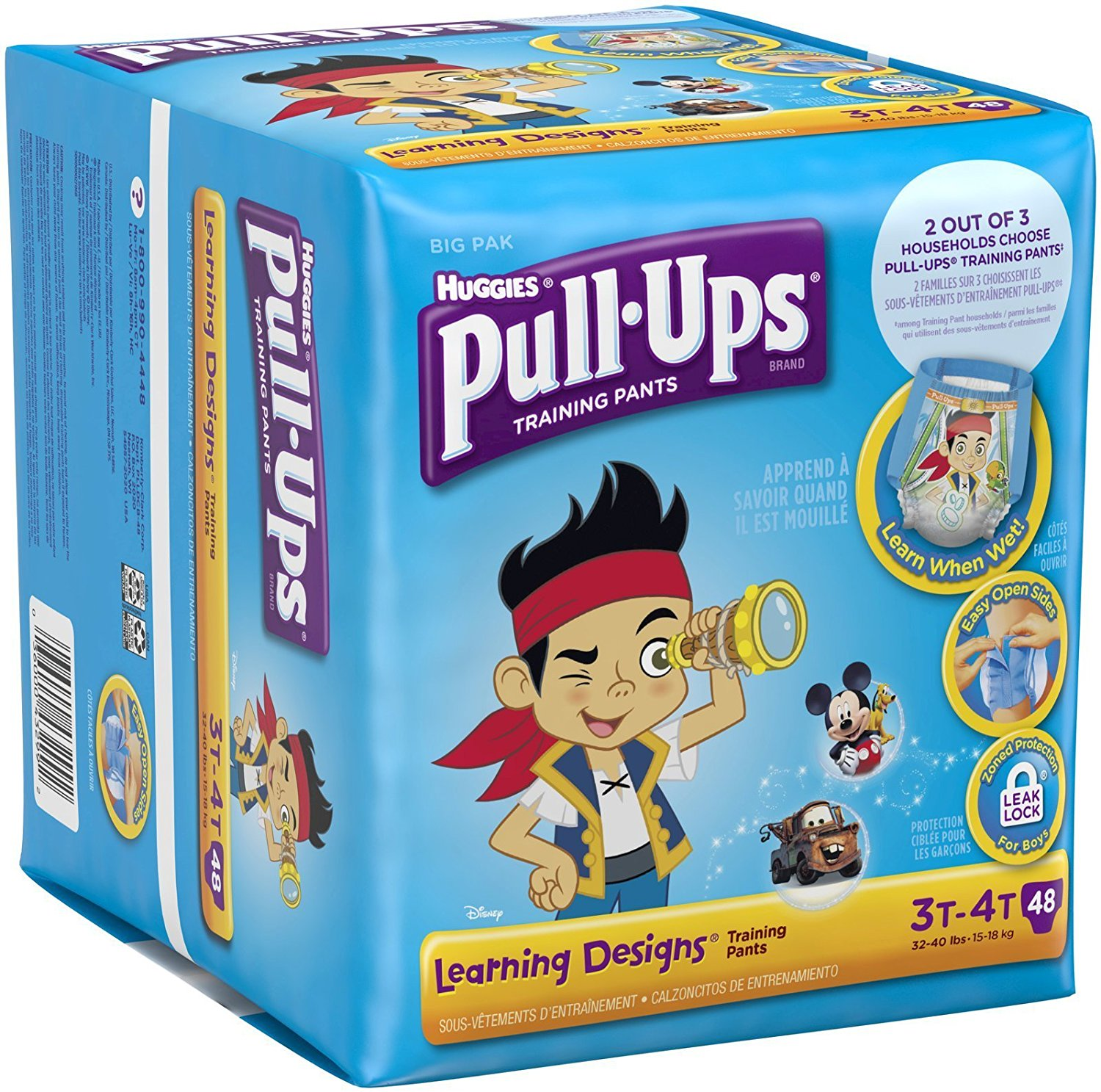 Pull-Ups Learning Designs Training Pants  3t-4t, Boy Jumbo Pack of 96