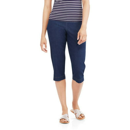 (Womens 2-Pocket Stretch Capri Pants)