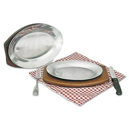 "Steak Platter, Cast Aluminum, 10 1/2"" x 7"""