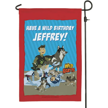 Personalized Wild Kratts Birthday Flag