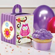 Owl Blossom Cupcake Boxes, 4pk