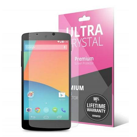5 Piece Bundle of High Definition Ultra Premium Clear Screen Protectors for LG Google Nexus