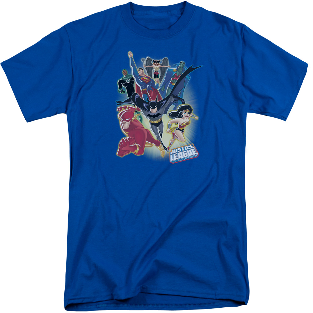 Justice League of America Fire And Rain Adult Crewneck Sweatshirt