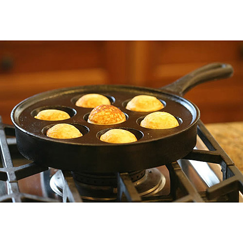Camp Chef Cast Iron Aebleskiver Pancake Puff Pan by SANTE COOKWARE