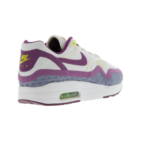competitive price dd240 b817f Nike Women s Air Max 1 Br White   Atomic Mango - Pink Glow Kumquat Ankle-  ...