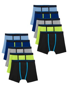 Fruit of the Loom Boys Underwear, Breathable Lightweight Boxer Briefs, 10 Pack Sizes 6/8 - 18/20