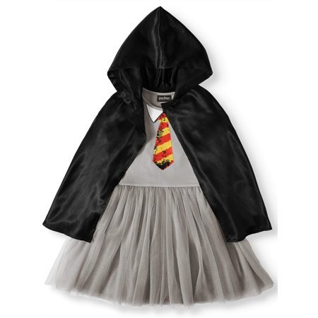 Harry Potter Slytherin Gryffindor Flip Sequin Cosplay Dress With Detachable Hooded Cloak (Little Girls & Big Girls)