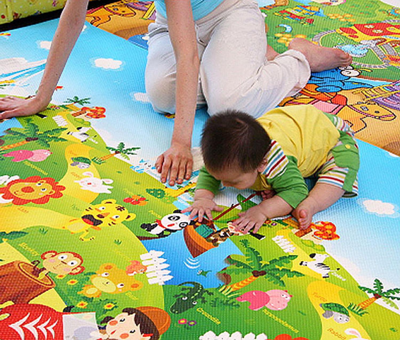 Kid Baby Toddler Play Crawl Mat Carpet Playmat Foam Blanket Rug For Indoors Outdoors Wcye