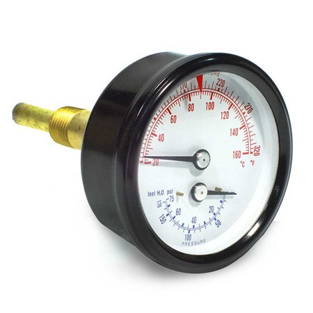 Combination Pressure-Temperature Gauge (Boiler Sizes 85-125 ...