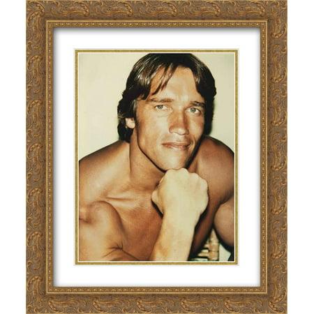 Andy Warhol 2X Matted 20X24 Gold Ornate Framed Art Print Arnold Schwarzenegger