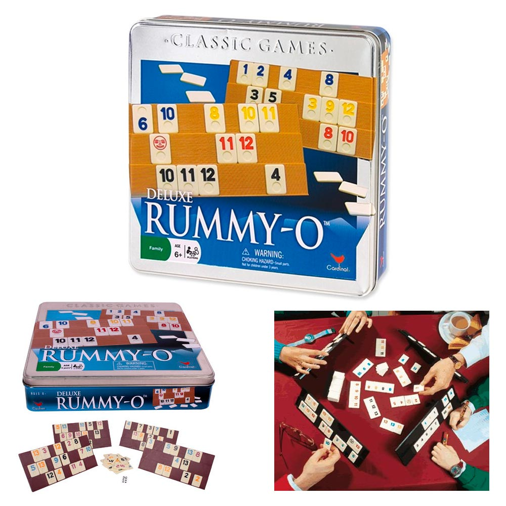 Deluxe Rummy-O Cardinal Classic Tile Number Game Rummikub...