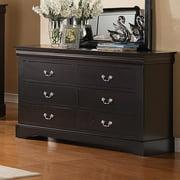 Standard Furniture Lewiston Black 6 Drawer Dresser in Black