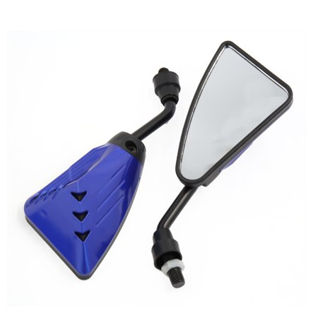 2Pcs Blue Screw Mount Racing Blind Spot Rearview Rear View Mirror for - Rear View Racing