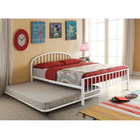 Cailyn Full Bed with Trundle, White