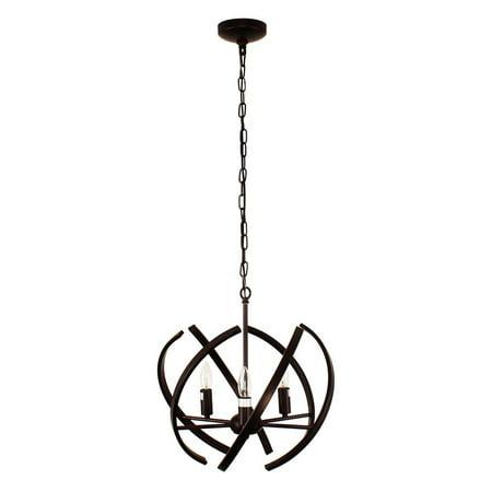 - CHLOE Lighting IRONCLAD Industrial 3 Light Oil Rubbed Bronze Ceiling Pendant 17