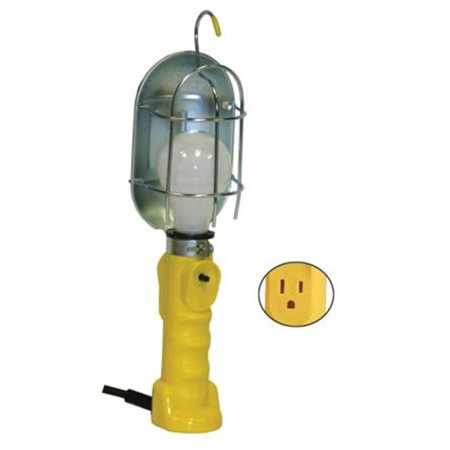Bayco Products BYSL-425A 25 ft. 5.3 Gauge Incandescent Work Light with Metal Guard & Single Outlet